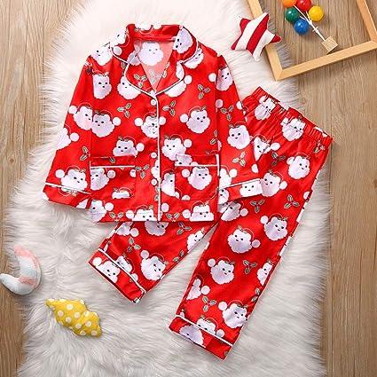 TriLance Navidad Papá Noel Tops Blusa Pantalones Pijamas ...