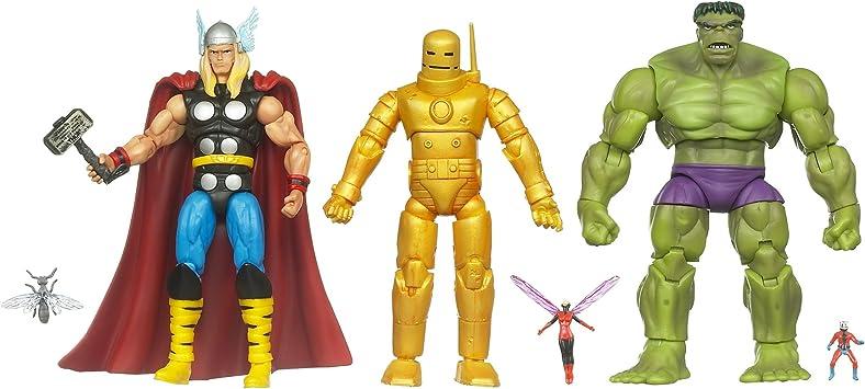Marvel Universe – Avengers (Vengadores) clásica – THOR, IRON MAN, HULK, avispa y contra ANT-Man: Amazon.es: Juguetes y juegos