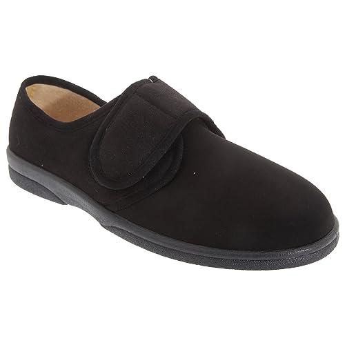 Sleepers - Zapatillas de estar por casa para hombre, color Negro, talla 47