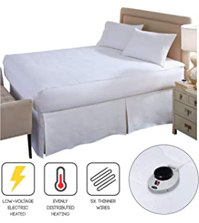 Perfect Fit SoftHeat Smart Heated Electric Mattress Pad With Safe U0026 Warm  Low Voltage Technology,