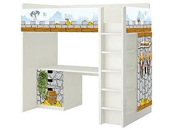 Etagenbett Ritterburg : Ritterburg aufkleber sh08 passend für die kinderzimmer hochbett