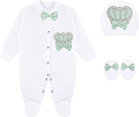 3 Piece So Many Bows 3-6 Month Baby Girl Clothing Set