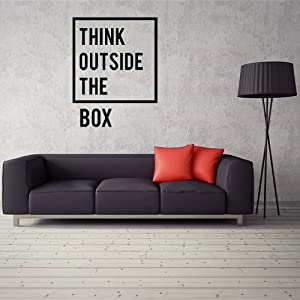 Think Outside The Box Wall Decal, Inspirational Wall Stickers, Wall Decals for Office, Wall Decals Office, Office Wall Decals, Office Wall Decor, Wall Decals for Office