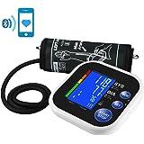 Mpow Bluetooth Automatico Misuratore Pressione, App Gratuita per Smartphone, Ampio Display LCD Retroilluminato, Operazione a Un Tasto, 60 Memoria, Confortevole Fascia da Braccio Superiore (22cm-32cm)