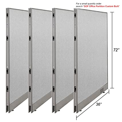 GOF [Large Quantity Orders] Office Single Partition Custom Built  Workstation Wall Office Divider (