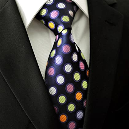 S5 Shlax&Wing Extra Long Size Dots Blue Multicolor Mens Neckties Ties Silk
