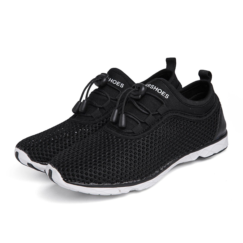 SHUFER Women's Quick Drying Aqua Water Shoes Flyknit Outdoor Walking Sneakers …