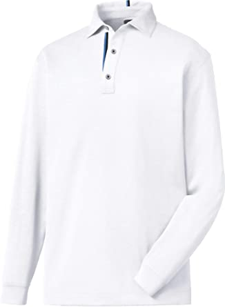 ff78fe74 Amazon.com: FootJoy Men's Long Sleeve Thermolite Solid Golf Polo (XL ...