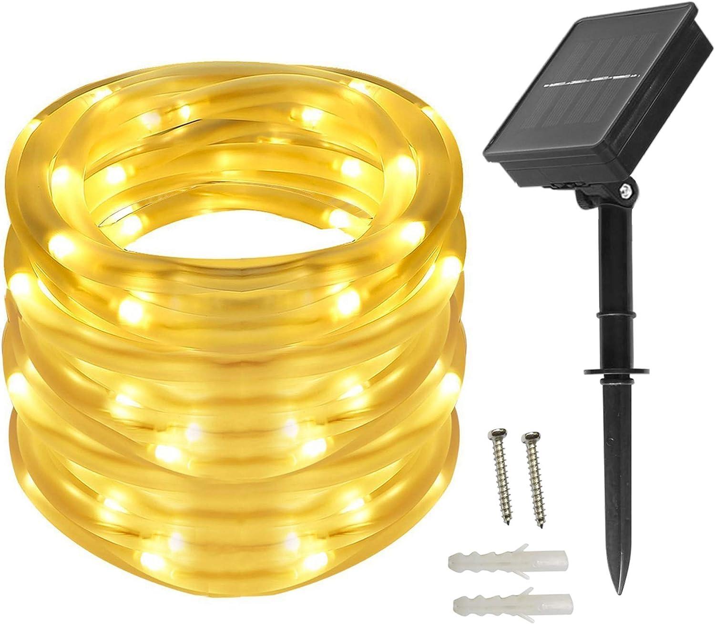 10M 100 LED Kupfer Draht Solar Lichterkette Lichtschlauch Outdoor @97k
