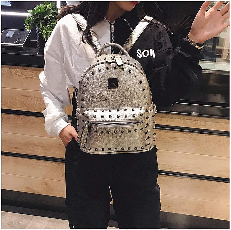 Wine cup Backpack Female Womens Backpack PU Leather Shoulder School Bag Bagpack