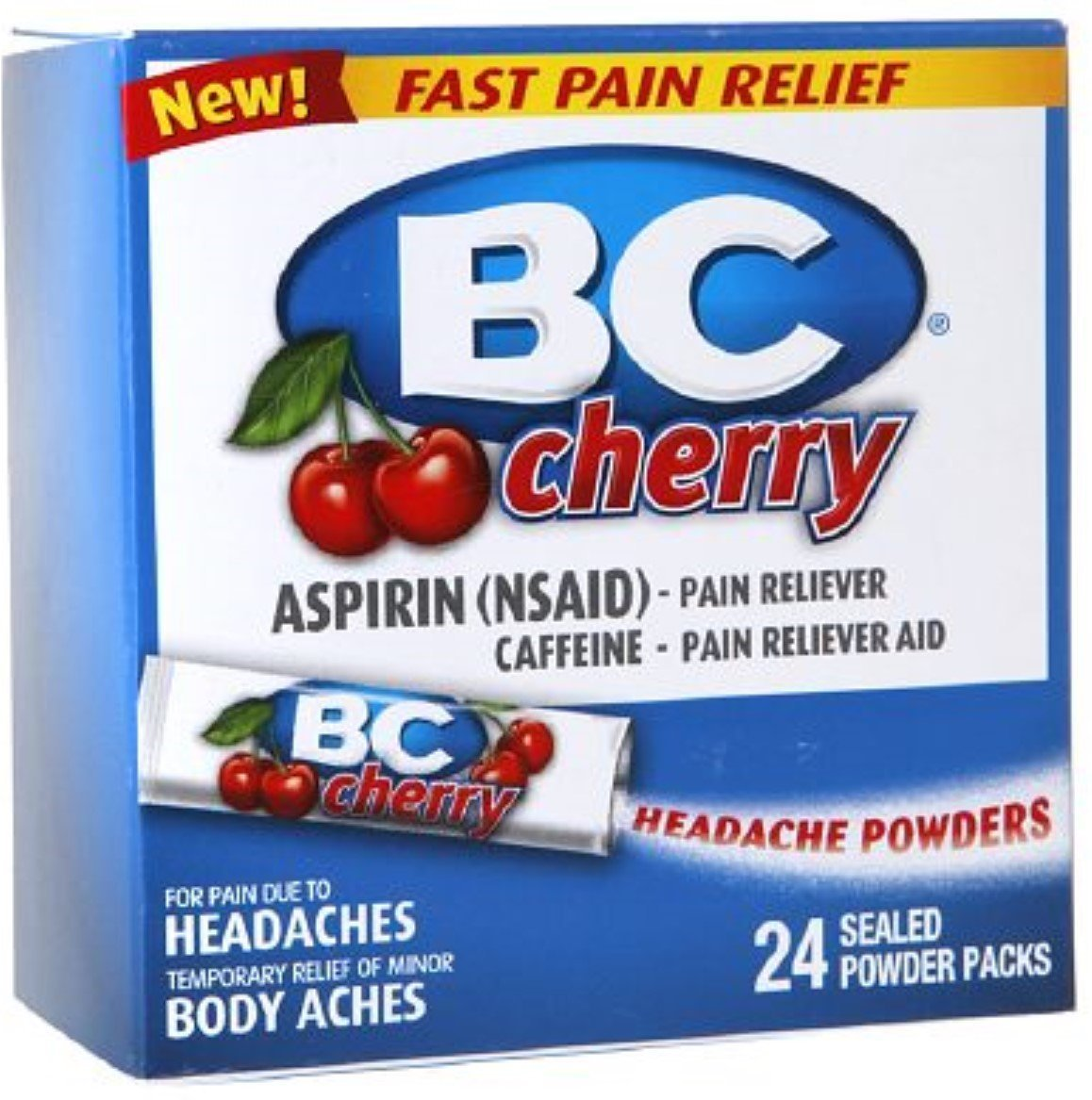 BC Headache Powders, Cherry 24 ea (Pack of 5) by BC