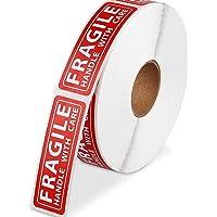 "Poxoke 1000pcs Fragile Stickers 1x3"""