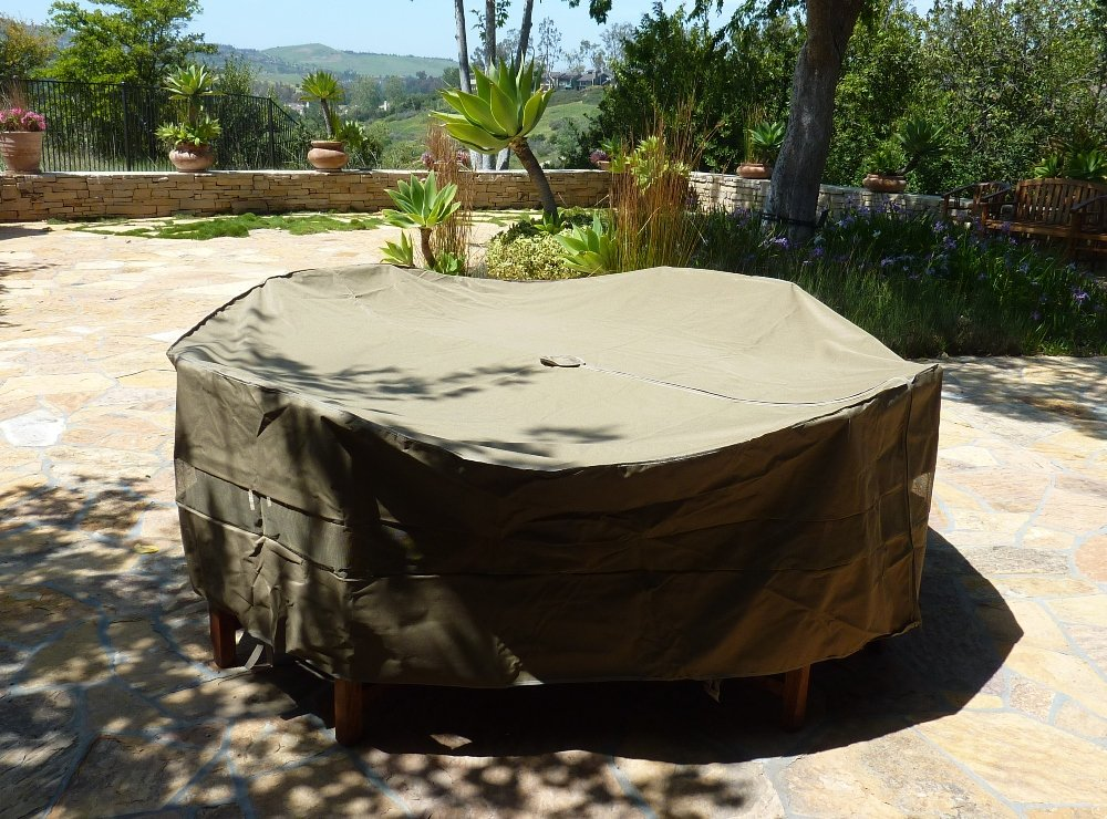 Amazoncom Patio Set Covers 96 Dia Fits square oval and round