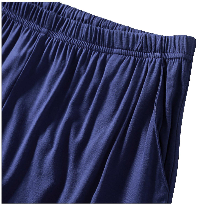 cd12e8a71e Dolamen Homme Bas de Pyjama Shorts Bas de pyjama Homme Coton Modal  sous-vêtements Caleçon Boxer ...