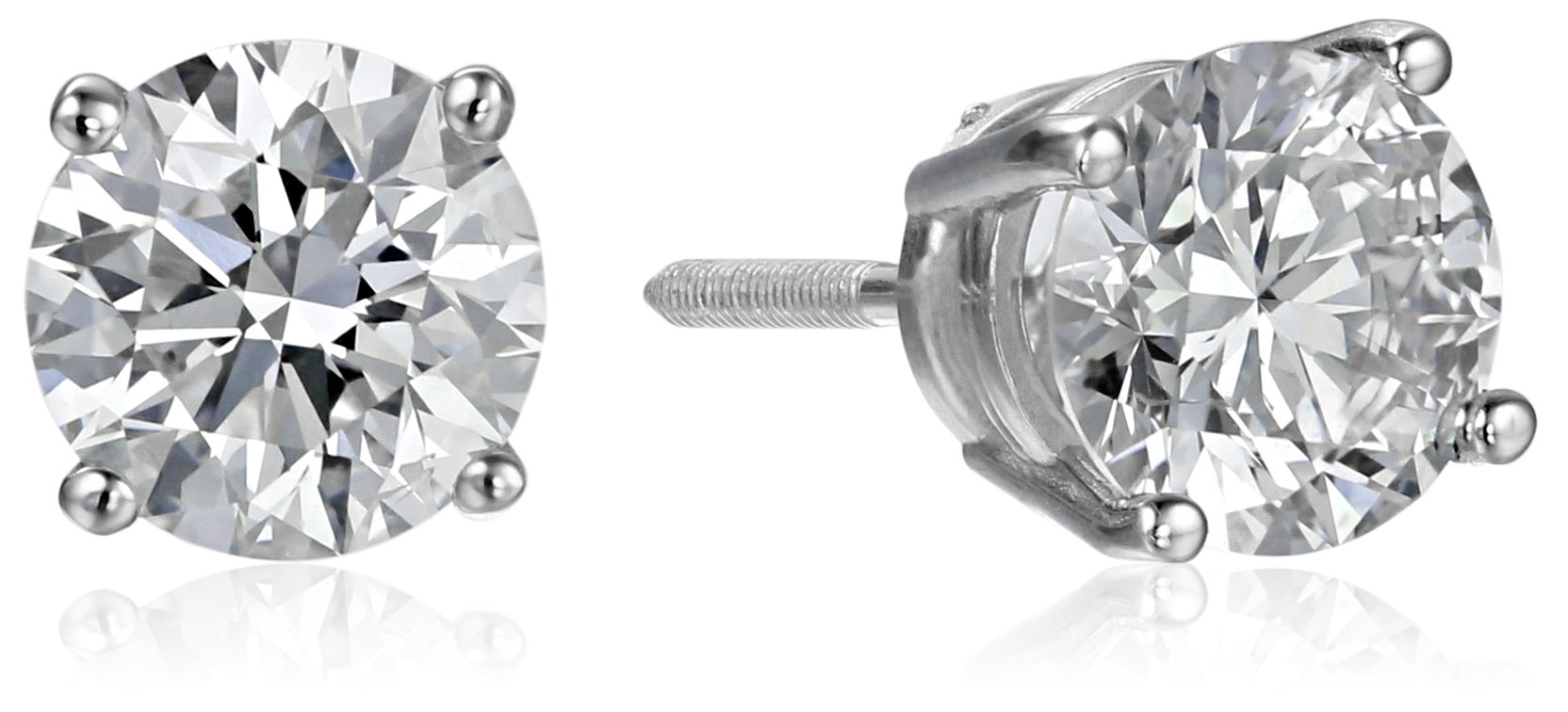 IGI Certified 14k White Gold Lab Created Diamond Stud Earrings (1 1/2 cttw, I-J Color, SI1-SI2 Clarity)