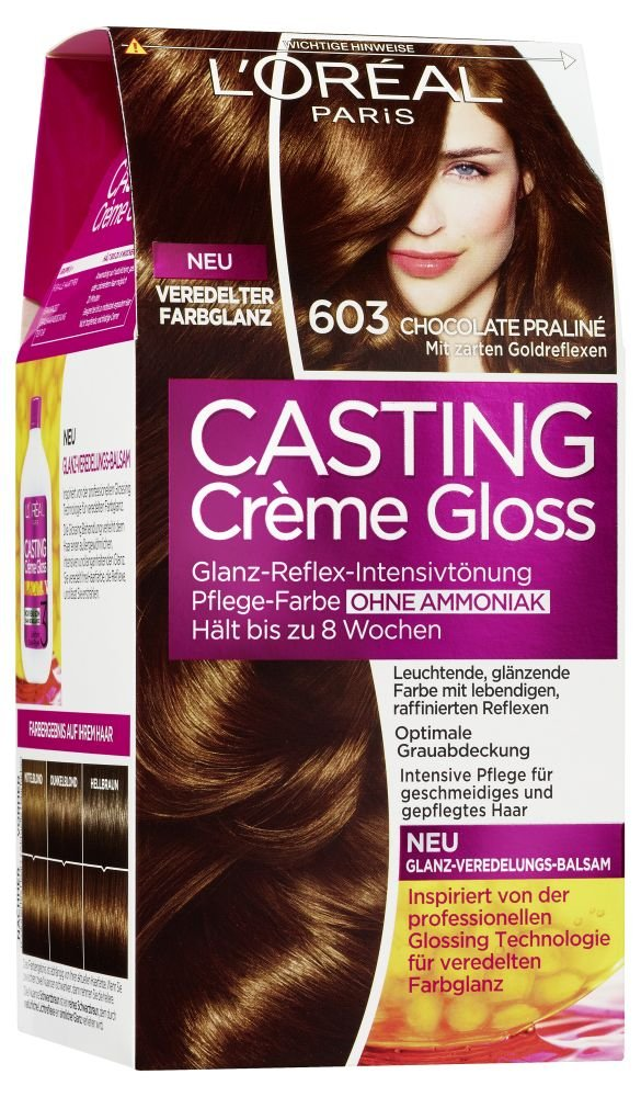 Amazon.com: LOréal Casting Crème Gloss 603 Chocolate Praliné 160 ml: Beauty
