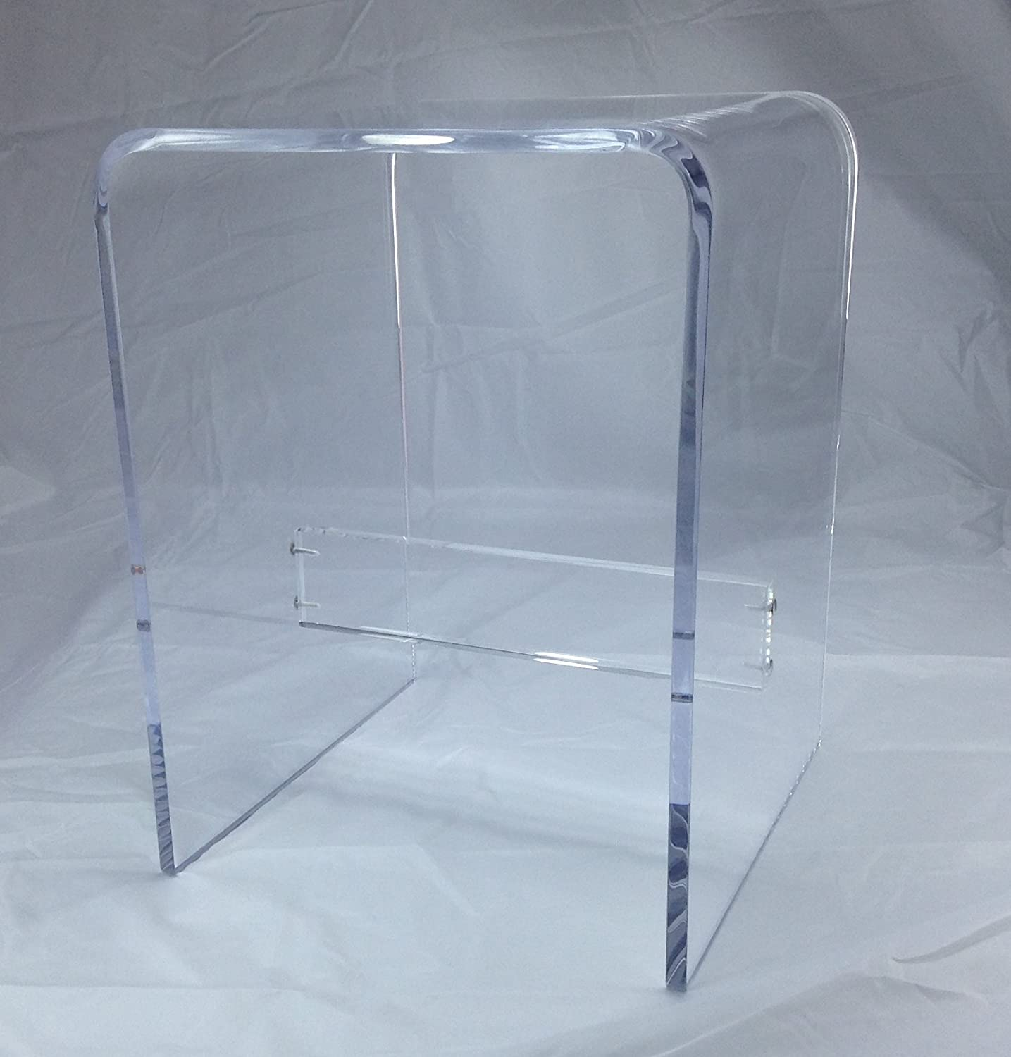 "1/2"" Clear Acrylic Shower Bench"