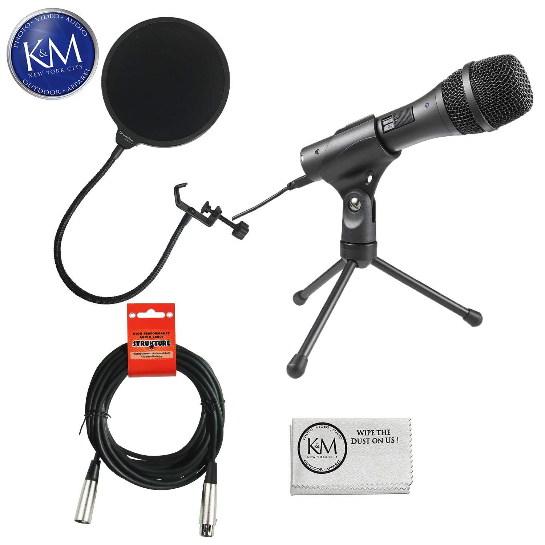 Audio-Technica AT2005USB Cardioid Dynamic USB / XLR Microphone Essential Bundle