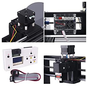 MYSWEETY DIY CNC 3018PRO-M 3 Axis CNC Router Kit with 5500mW 5.5W Module + PCB Milling, Wood Carving Engraving Machine with Offline Control Board + ER11 and 5mm Extension Rod (Tamaño: Extra Large)