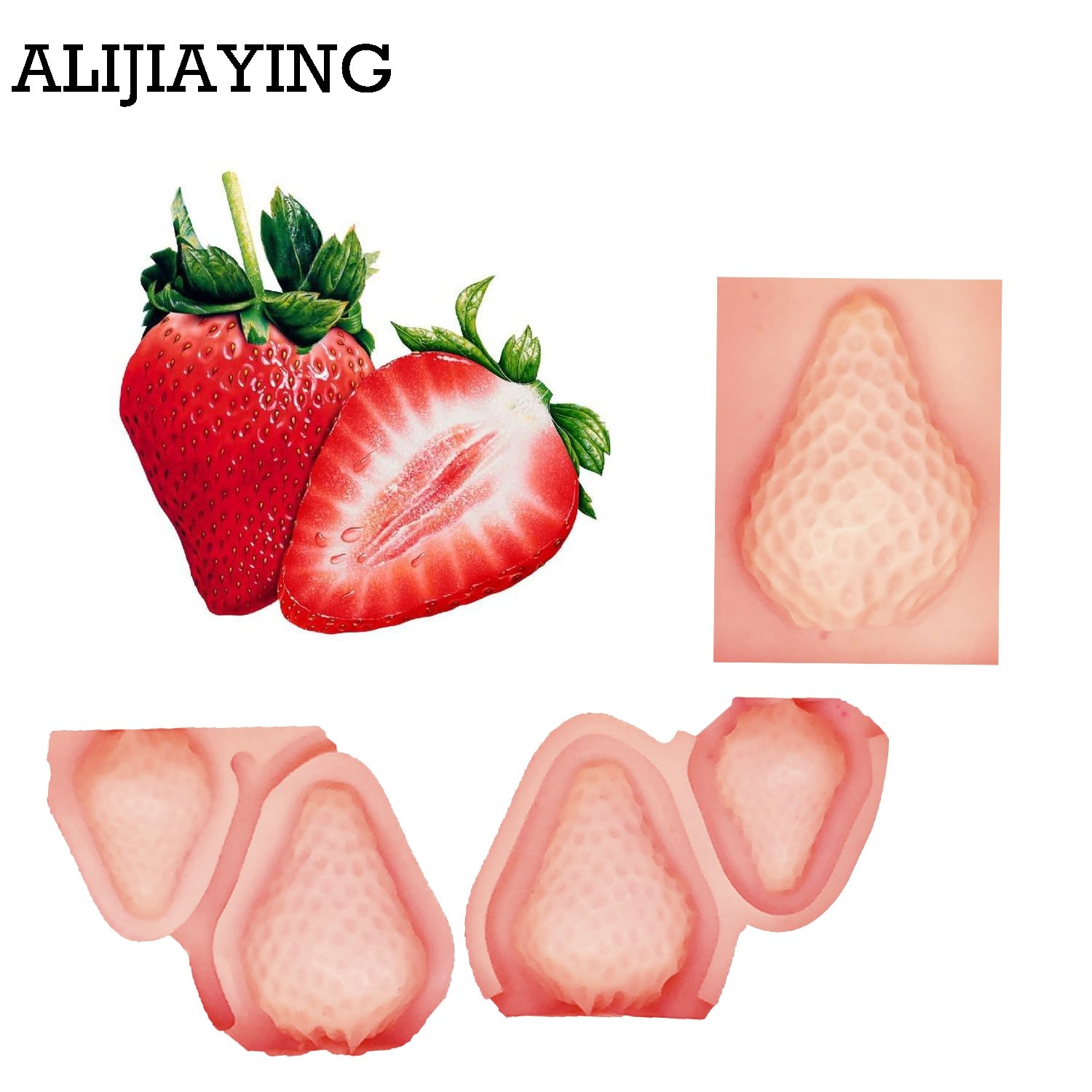 VHLL CAKE MOLDS 3PCS/set Strawberry Fruit Chocolate Making Silicone Molds Cupcake Fondant Cake Decorating Tools Sugar Candy Clay Moulds