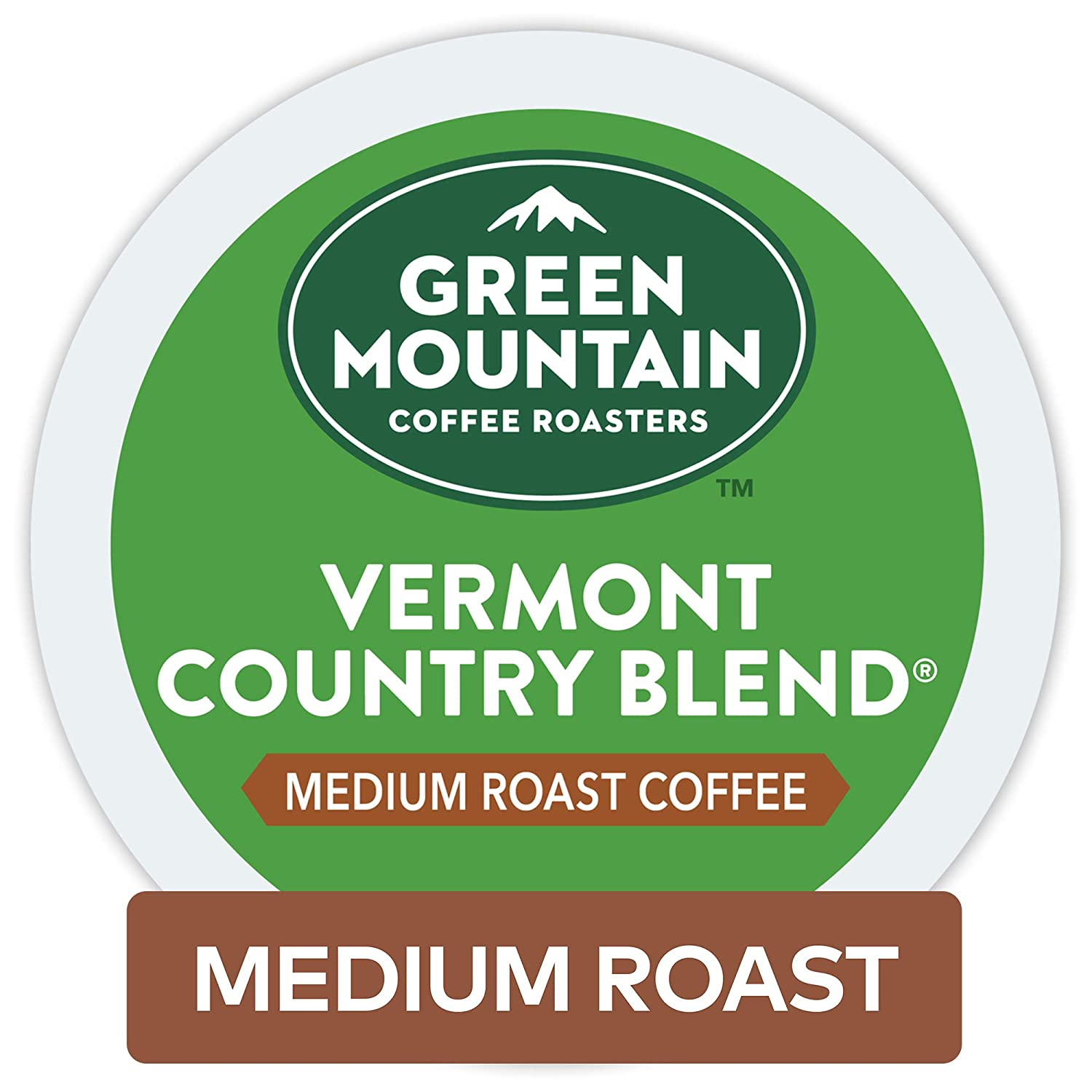 Green Mountain Coffee Roasters Vermont Country Blend Keurig Single-Serve K-Cup Pods, Medium Roast Coffee 72 Count