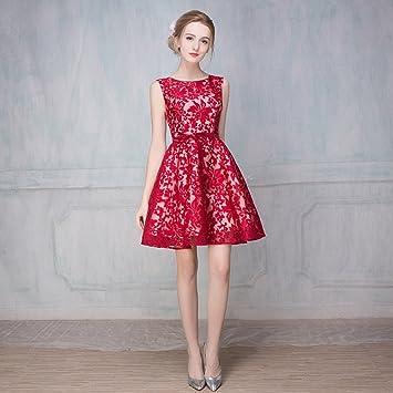 Unbekannt Braut Hochzeit Toast Kleidung kurzen Absatz Bankett Abendkleid  Sommer roten Rundhals cheongsam Kleid Frauen, 9c5bf6ed2b