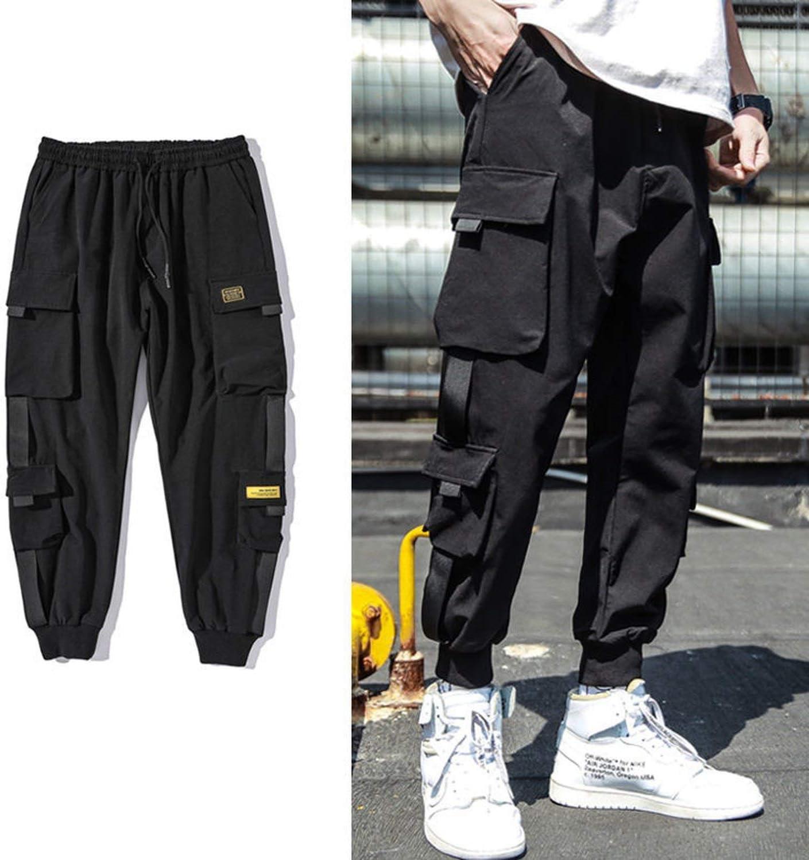 Hkbeaty Men S Harem Pants Hip Hop Joggers Pantalones De Deporte Para Hombre Varios Bolsillos Color Negro 13 Small Amazon Com Mx Ropa Zapatos Y Accesorios