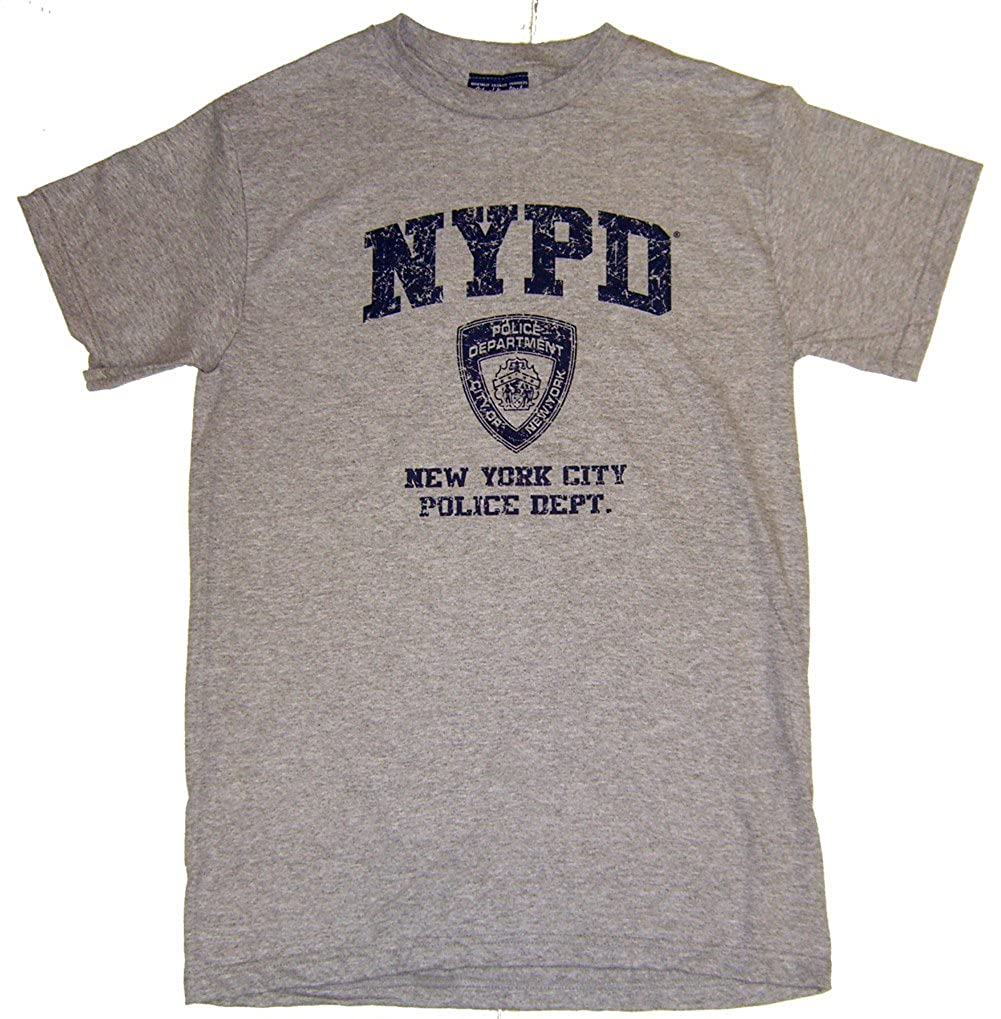 ecee32265 Amazon.com: NYPD Distressed Ash Tee: Clothing