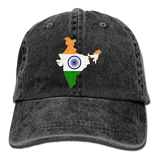 Pants Hats Indian Flag Map Washed Retro Adjustable Cowboy Hat Baseball Cap  for Adult at Amazon Men s Clothing store  8344de80455
