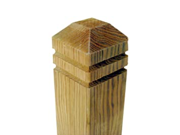 3 x Exterior Square Newel Posts, Decking Handrail,: Amazon.co.uk ...