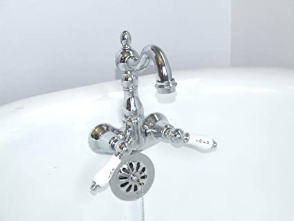 Heavy Duty B3100 3 3 8 Centers Clawfoot Tub Faucet With Ceramic