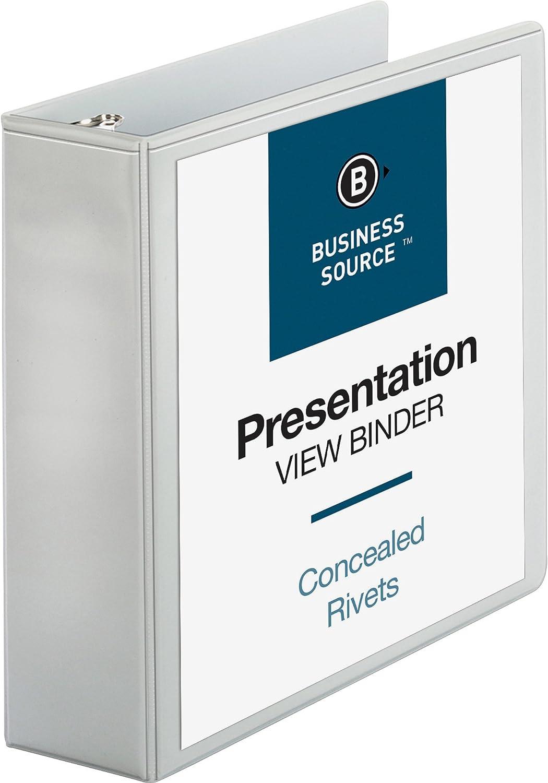 09987 Business Source 3-Inch Standard Presentation Binder White