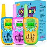 LOOIKOOS Walkie Talkies for Kids, 3 KMs Long Range Children Walky Talky Handheld Radio Kid Toy Best Gifts for Boys and Girls