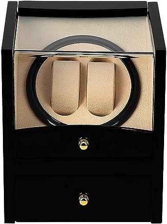 Caja de 4 relojes para relojes automáticos de madera (2+2): Amazon.es: Relojes