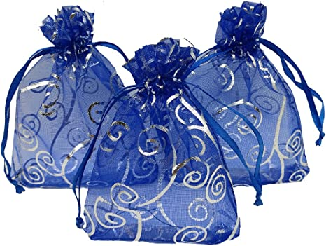 30//100pcs Sheer Organza Wedding Party Favor Gift Candy Bags Jewelry Pouches Lots