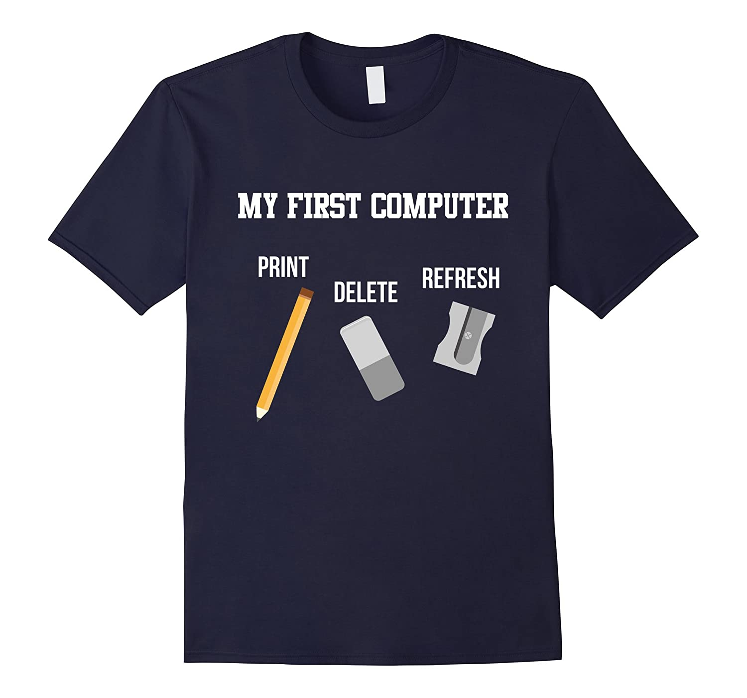 Funny Computer Shirt My First PC Programmer IT Gift-Vaci