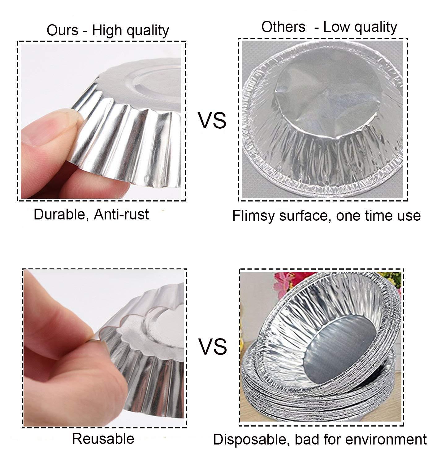 galletas y bizcochos OOTSR Pack de 20 tartaletas de aluminio para cup cakes