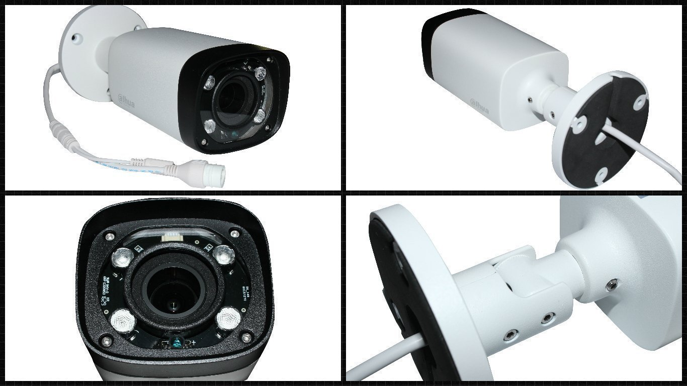 Varifocal und Infrarot-Beleuchtung Dahua Profi Bullet 4/Megapixel IP-Kamera PoE