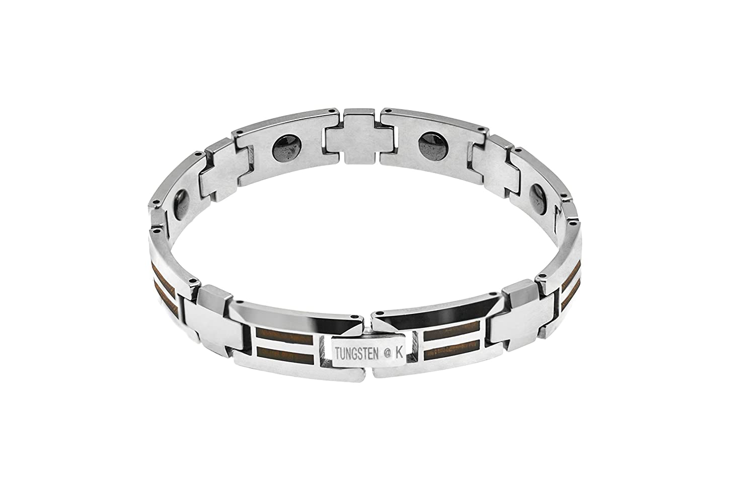 carbide square ip id chains hollow over tungsten bracelet black stub