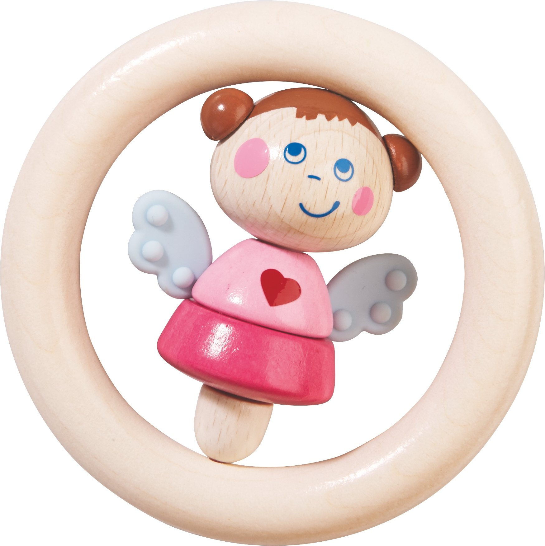 HABA Guardian Angel Natalie Wooden Clutching Toy & Teether (Made in Germany)