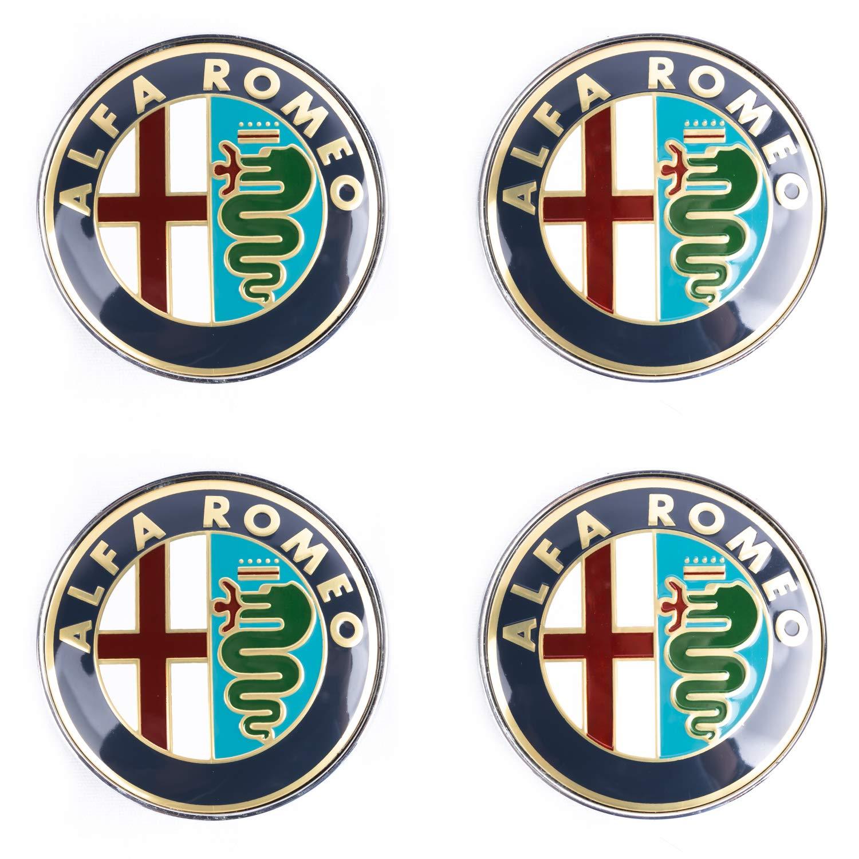 SFONIA 4pz 60MM Coprimozzo Coprimozzi Auto Tappi Centrali per Ruote per Alfa Romeo