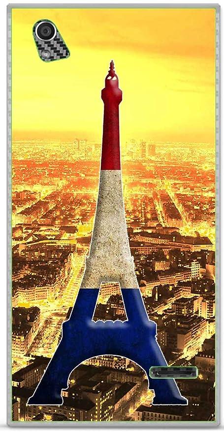 Carcasa TPU Gel Suave Orange Rono Design París Torre Azul ...