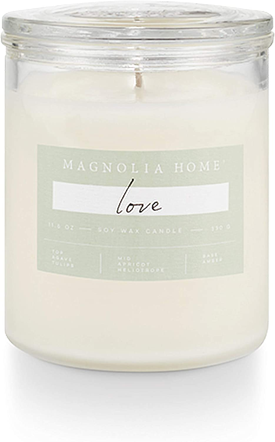 Magnolia Home Love Lidded-Glass Candle Home Decor By Joanna Gaines