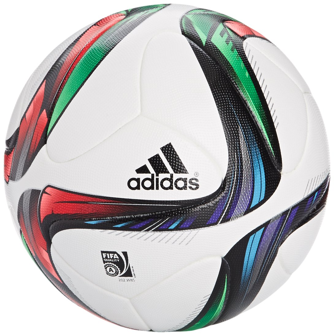 adidas Offizieller Spielball Conext 15, Top -White/Night Flash S15/Flash  Green S15/Black Bottom-Silver Met/Bold Red/Flash Red S15/Light Blue, 5, ...