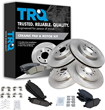Front Calipers Brake Rotors Ceramic Pads For 2009-2011 Ford Flex 2009 2010 MKS