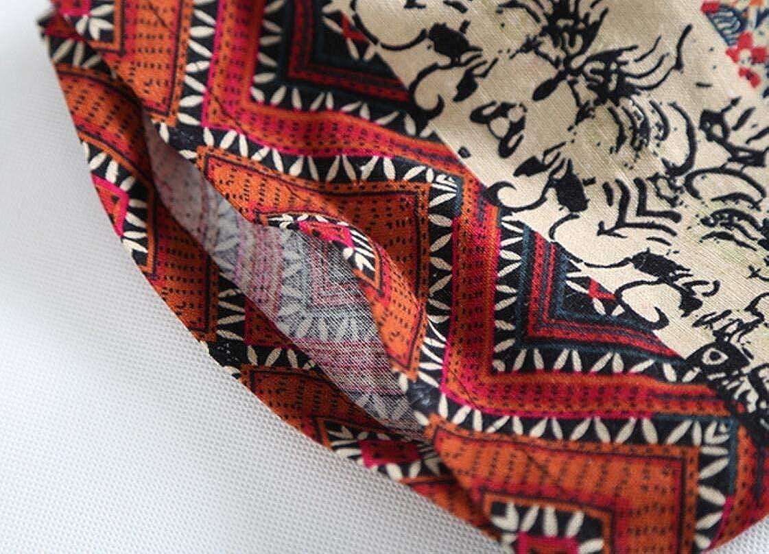 Generic Mens Comfy Straight Navajo Floral Print Elastic Waist Baggy Board Shorts