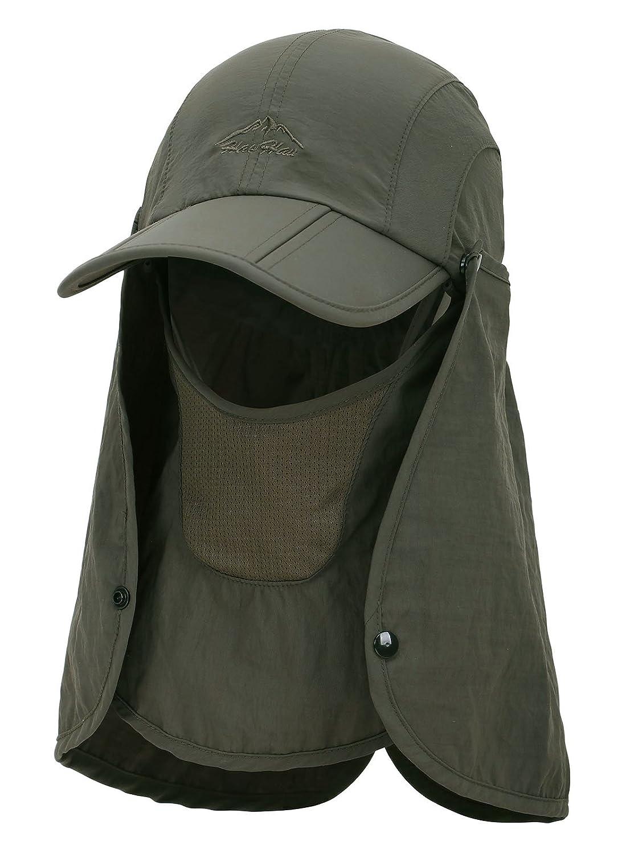 2be9a999b31 EPYA Sun Hat Outdoors Quick Dry UV Protection Safari Hat w Flap Neck ...