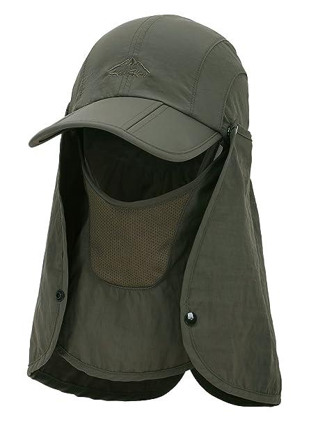 b9d649d29b3a9e EPYA Sun Hat Outdoors Quick Dry UV Protection Safari Hat w/Flap Neck,Army
