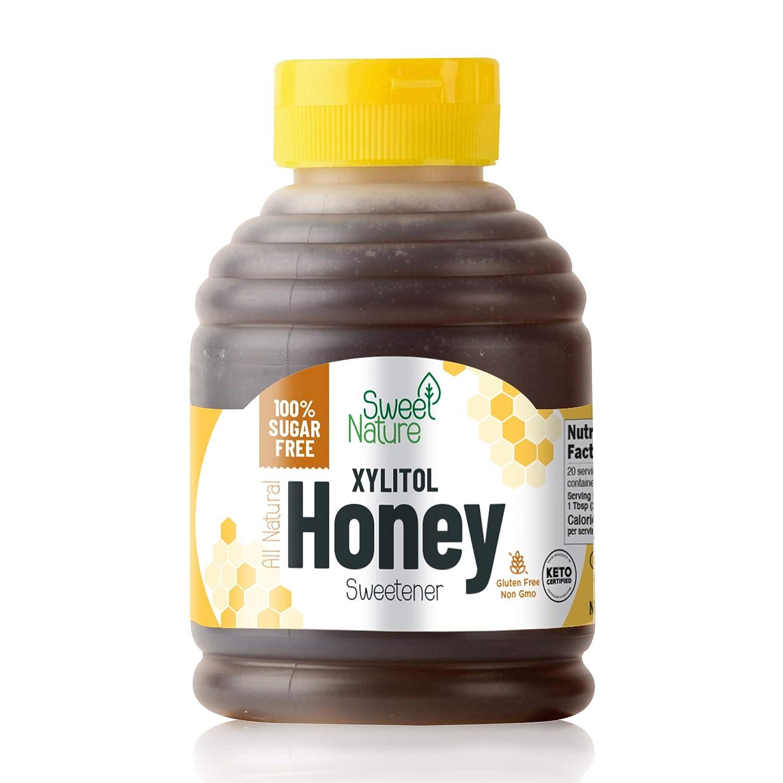 Sweet Nature Birch Xylitol Sugar Free Honey - Non GMO - Kosher - Made in the U.S.A. - Keto Friendly (14 oz)