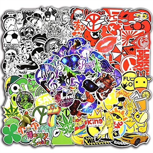 250 Pcs Colorful Cool Stickers for Laptop Car Luggage Bicycl